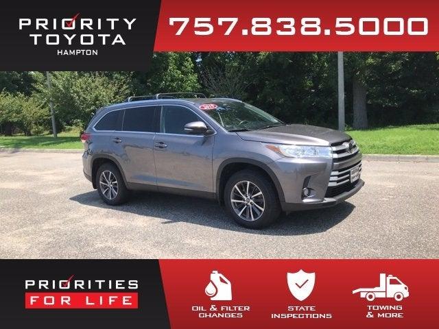 2019 Toyota Highlander Xle Toyota Dealer Serving Hampton Va New